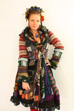 These katwise Recycled Sweater Coats are AMAZING and I'm am buying for real the Black  and Purple Gothic Fairy  TUTORIAL