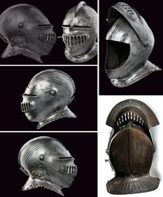 A Maximilian type helmet:    provenance: Southern Germany dating:  16th Century