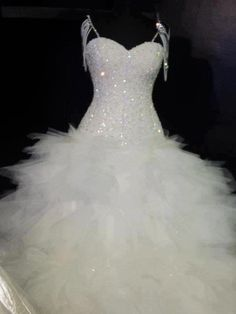 Feathery Dress with Sparkly Bodice