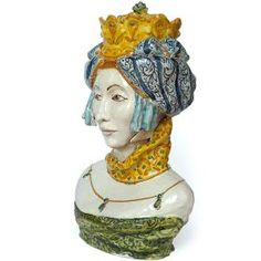 Revisitation of the classic sicilian symbol, the Maure Head, molded and decorated entirely by hand. #madeinitaly #artigianato #majolica #maiolica