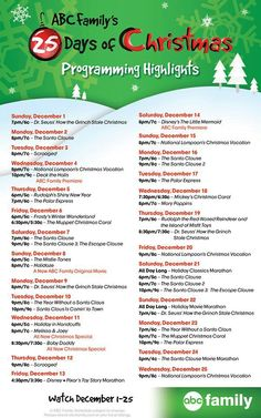 Christmas tv line up 2013