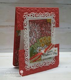 A Mother's Day card for our Art With Heart Stampin' Up! Team Creative Showcase Blog Hop for April.