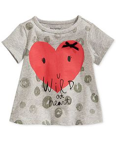 First Impressions Baby Girls' Wild at Heart Tee
