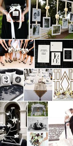 A Black and White Wedding - http://www.yesbabydaily.com/blog/a-black-and-white-wedding