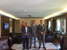 HATİAB Genel Başkanı İbrahim Güder ve ORGE Elektrik CEO'su ve HATİAB Başkan Yardımcısı Nevhan Gündüz SPOR TOTO Teşkilat Başkan'ı Sayın Mehmet Muharrem Kasapoğlu'na nezaket ziyaretinde bulundular.