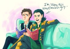 Tom and Loki reading Shakespeare. This is way too cute. I can't even.