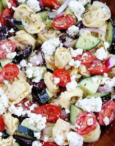 Greek Tortellini Salad~Just made this and it's so yummy.