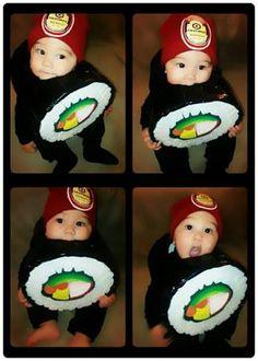 Homemade sushi costume idea