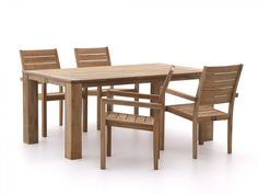 ROUGH-S/ROUGH-X 180cm dining tuinset 5-delig stapelbaar