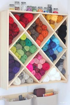 excellent storage ideas for your craft room Yarn Storage Cubbies - Awesome DIY Craft Room Organization Ideas To Steal Right Now!Yarn Storage Cubbies - Awesome DIY Craft Room Organization Ideas To Steal Right Now! Craft Room Storage, Craft Rooms, Kitchen Storage, Toy Storage, Fabric Storage, Paper Storage, Storage Hacks, Plastic Storage, Nursery Storage