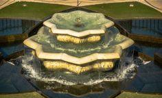 Bahai Garden fountain from above