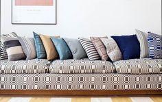 Freche Kissen- und Möbelbezüge im natürlichen Farben / Cheeky Pillowcases & furniture covers in natural colors   Johanna Gullichsen   Heimtextil 2016   TOP FAIR Blog