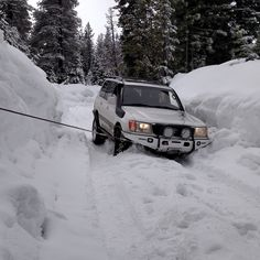 Snow and winching probably go together, white on white.