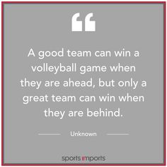 #WednesdayWisdom Volleyball Motivation, Volleyball Games, Great Team, Math, Math Resources, Mathematics
