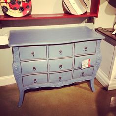 #Deal of the Day! This French country-chic chest in robin's egg blue will accent even the most contemporary of rooms! Retails at $1273, grab it today for $572! Find it in the Outlet at Furnitureland South!