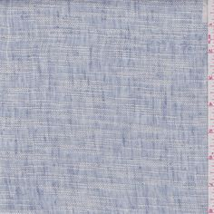 Pale periwinkle blue and ivory. This lightweightlinen is loosely woven and has horizontal stripes.Compare to $30.00/yd
