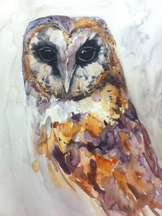 Barn Owl. - 20cmx30cm. Beautiful ~ Artworks by Mary Geary