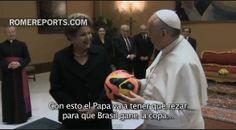 Francisco a Dilma Rousseff: No querrá que el Papa rece para que Brasil gane el Mundial...