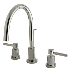 Elements of Design Concord Double Handle Single Hole Widespread Bathroom Faucet