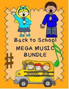 ***$25.00 during the month of June 2015***  Individual prices would total: $39.00 ($9.00 Savings)   I have put together five of my most popular products plus two new products to make up this Back to School MEGA MUSIC BUNDLE.   It includes Original Songs, Tone Chimes & Bells pieces, Fall/Autumn themed BAG Recorder songs, Patriotic pieces, Orff pieces, & Music Curriculum integration lesson plans and worksheets.   Many pieces in this BUNDLE may be used for performances.
