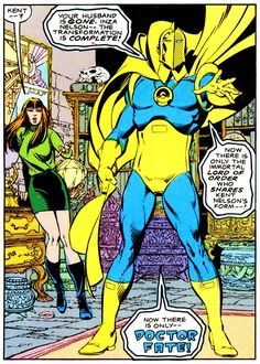 Doctor Fate: Used for purposes of illustration in an educational article about the entity. Comic Book Pages, Comic Books Art, Comic Art, Book Art, Dc Comics Art, Fun Comics, Dc Doctor, Dr Fate, Vertigo Comics
