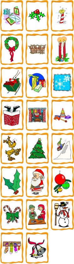 Flashcard Index - ESL Flashcards Christmas Activities, Book Activities, Free Teaching Resources, Teaching Tools, Vocabulary Cards, Theme Noel, Christmas Templates, Preschool Themes, Learn French
