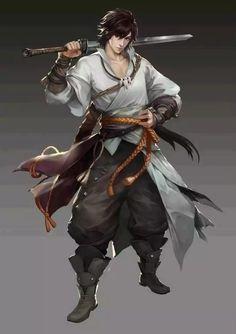 Sasuke uchiha, swordsman handsome anime boys // in 2019 char Fantasy Character Design, Character Creation, Character Design Inspiration, Character Concept, Character Art, Concept Art, Dnd Characters, Fantasy Characters, Fantasy Kunst
