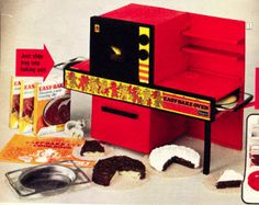 The Vintage Easy Bake Oven. I thought I'd died and gone to heaven when I found this under the Xmas tree in '76