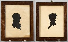 1800's portraits of ladies | Having your silhouette portrait created was useful for many things: