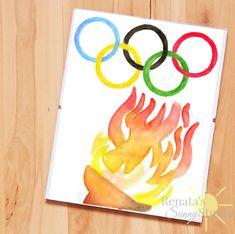 Olympic Games Olympics watercolor print https://www.etsy.com/listing/385657362/olympic-games-olympics-logo-wall-art