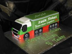 Eddie stobart cake Models Needed, Commercial Vehicle, Sweets, Cupcakes, Cake Ideas, Cookie, Trucks, Fan, Vehicles
