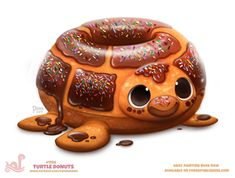 Daily+Paint+1755#+Turtle+Donut+by+Cryptid-Creations.deviantart.com+on+@DeviantArt (donuts dessin)