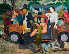 Nicole Eisenman, The Triumph of Poverty, 2009, oil on canvas, 65 × 82 inches.