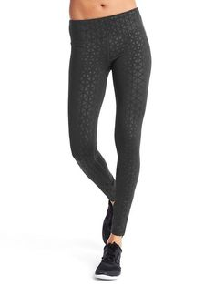 gFast print brushed leggings