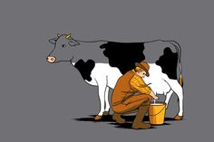 (But is the cow half full or half empty?!)  Crazy Illustrations By Chow Hon Lam