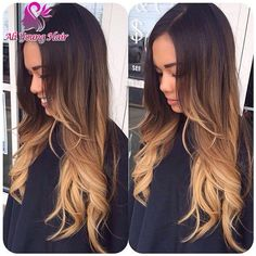 wig hair colors on sale at reasonable prices, buy T Blonde Ombre Full Lace Human Hair Wigs Virgin Brazilian Hair Glueless Lace Front Wigs For Black Women Ombre U Part Wig from mobile site on Aliexpress Now! Onbre Hair, New Hair, Hair Perms, Lace Hair, Hair Band, Loose Hairstyles, Pretty Hairstyles, Prom Hairstyles, Hairstyles Videos