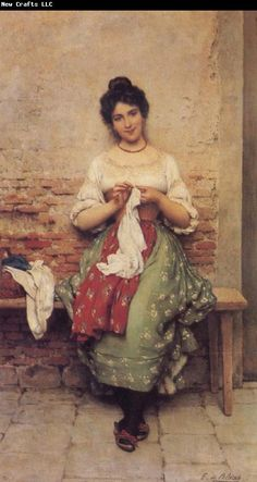 Eugene de Blaas THe Seamstress