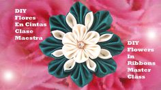 DIY flores en cintas clase maestra - flowers in ribbons master class