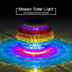 New Design 2016 Rainbow Mosaic Candle Holder Powed by Solar Colorful Gradient Sun Jars Led Night Light for Party Event Wholesale