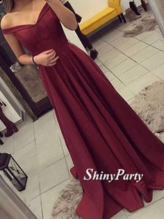 Custom Made Off Shoulder Burgundy Prom Dresses, Burgundy Formal Dresses, Burgundy Evening Dresses #shinyparty #prom #dress #formal #dresses #long #burgundy #eveningdress #prom2017 #promdress #formaldress #burgundydress #unique #fashion #pretty #beauty