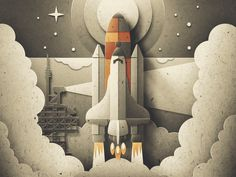 Paper Shuttle Launch Animation by Austin Faure - Dribbble