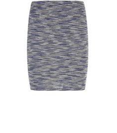 Black Space Dye Mini Tube Skirt
