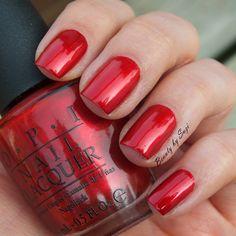 OPI, Danke-Shiny Red #opi
