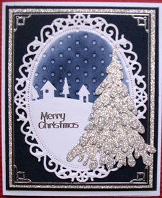 Many different dies - spellbinders ovals, dee's dies large snow covered stacker tree IME027