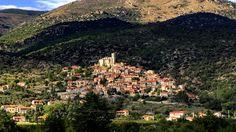 Uitzicht op het dorp Eus