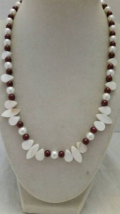 Check out this item in my Etsy shop https://www.etsy.com/listing/251132099/white-necklace-pink-necklace-pearl
