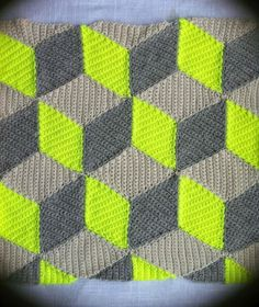 Naturals and neons look so amazing together - love the geometric look of this crochet