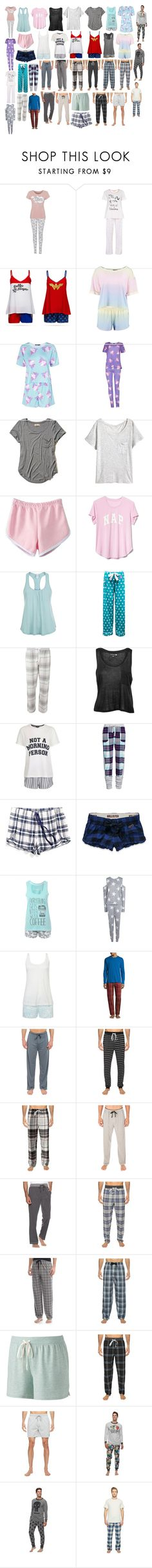 """Pajamas 6"" by spellcasters ❤ liked on Polyvore featuring George, Dorothy Perkins, Boohoo, Hollister Co., Gap, Eberjey, Topshop, Tommy Hilfiger, Été Swim and Original Penguin"