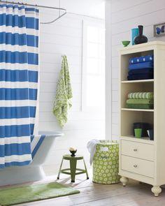 Cool {Nautical} Bathroom. love the plank wall.