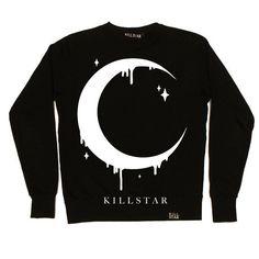 Moon Sweatshirt [B] ❤ liked on Polyvore featuring tops, hoodies, sweatshirts, sweatshirt, crew top, unisex tops, cotton sweatshirts, patterned sweatshirts and drop-shoulder tops